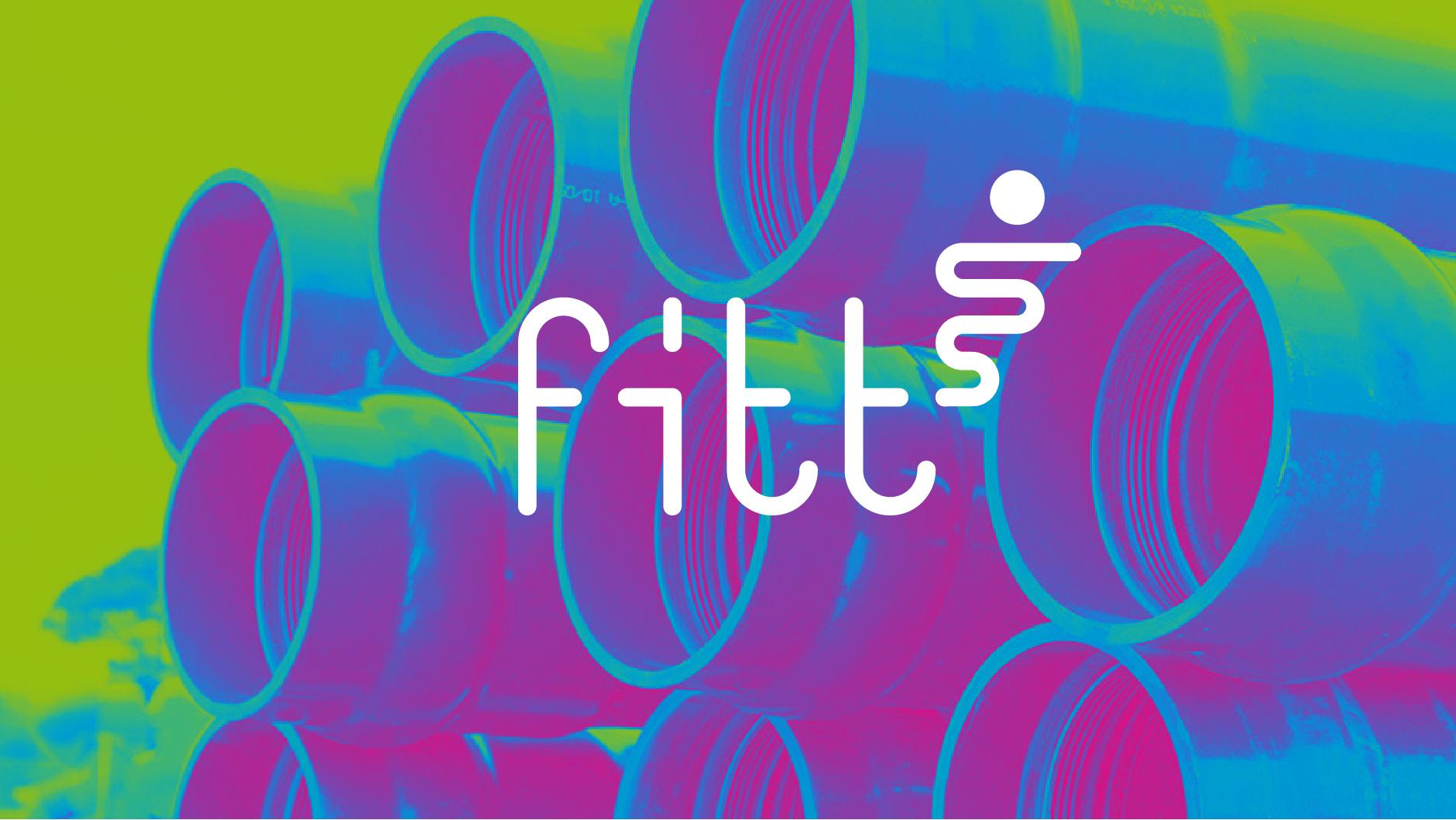 Fitt trademark su immagine postprodotta di tubi