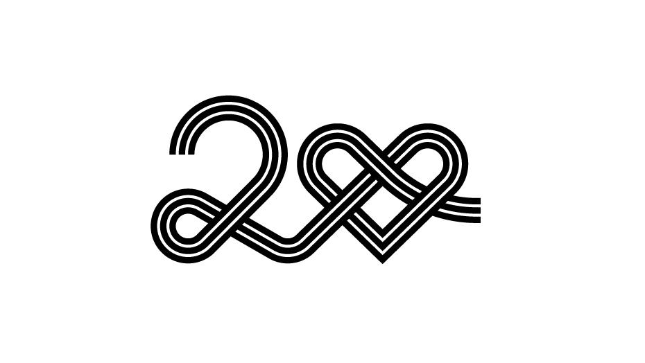 GNV anniversary logo nero su bianco