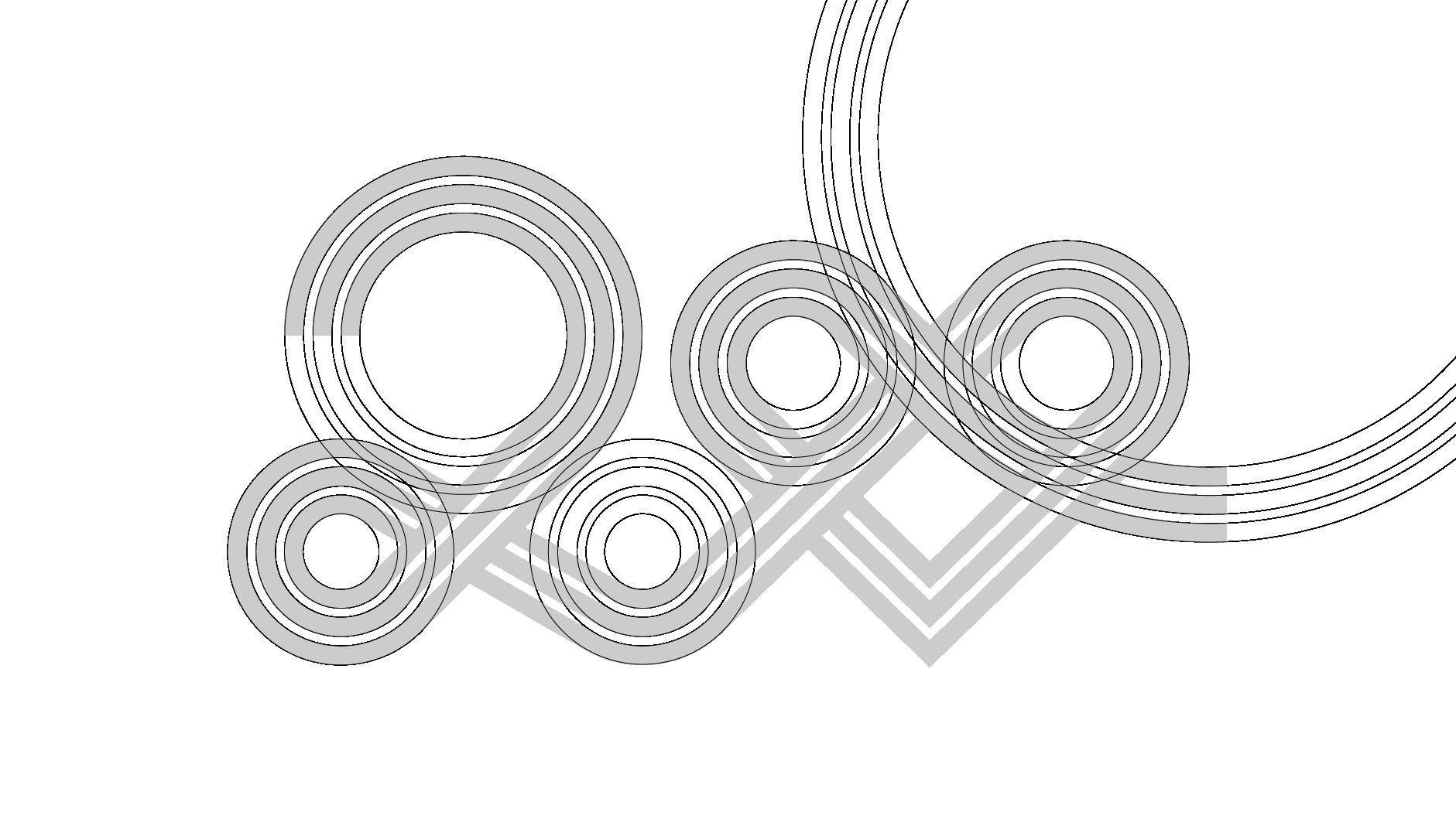 Costruttivo del anniversary logo GNV