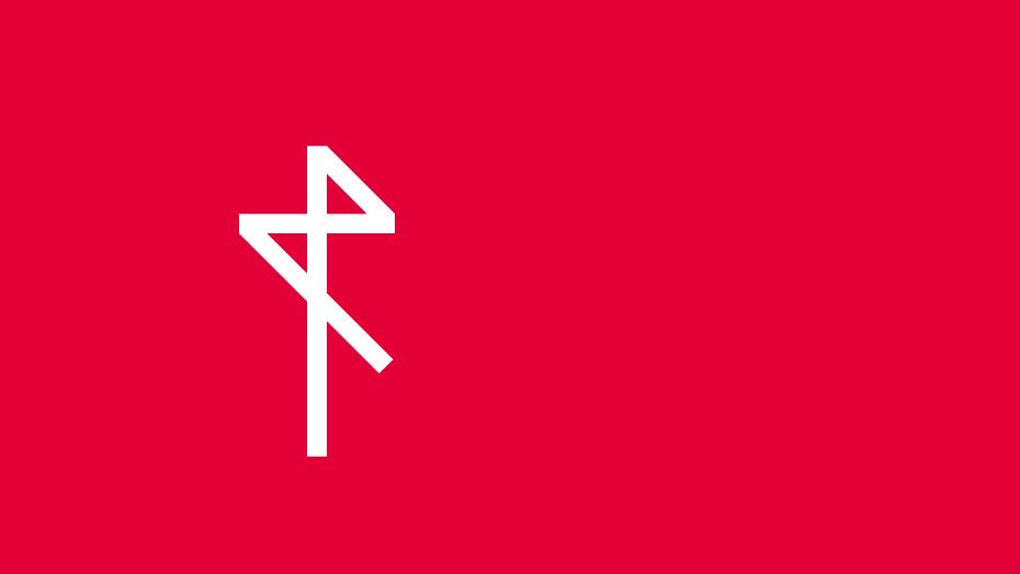 Rossetto trademark bianco su rosso rossetto
