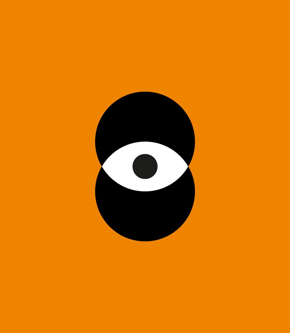 C1A0 EXPO logo monocromatico nero fondo arancione