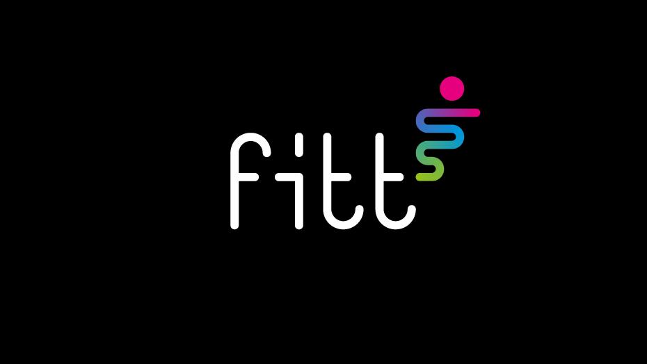 Fitt trademark a colori fondo nero